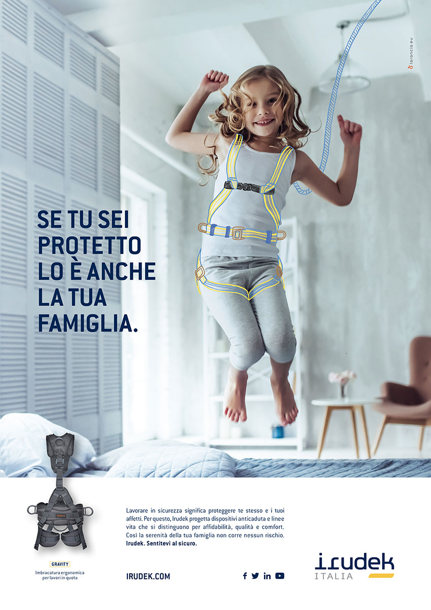 Campagna pubblicitaria IRUDEK Italia